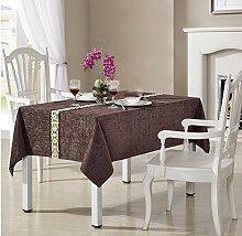 WFLJL europäischen Stil Wohnzimmer Tischdecke Tuch Chenille Rechteck Couchtisch/Farbe 90 * 90 cm