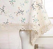 WFLJL Im europäischen Stil Küche Baumwolle Esstisch Couchtisch Dekoration Tischdecke Oval,*130*175cm