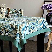 WFLJL minimalistischen Stil Tischdecke aus Baumwolle Wohnzimmer Küche Esstisch Couchtisch 100*160cm