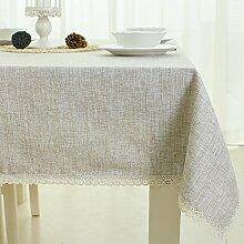 WFLJL minimalistischen Stil Tischdecke aus Baumwolle Wohnzimmer Küche Esstisch Couchtisch 140 * 200cm