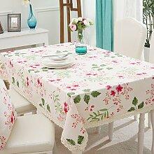 WFLJL Moderne Einfachheit, Tischdecke, Esstisch,, Couchtisch, Baumwolle, Rechteck, Tuch, Blumen, 140 * 140 cm