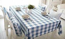 WFLJL moderne Schlichtheit Tischdecke aus Baumwolle Tuch Tuch 220 * 140 cm