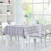 WFLJL Modernes minimalistisches Tischdecke Tuch Couchtisch Esstisch Bettwäsche Blau 140 * 140cm