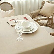 WFLJL Tischdecke aus Baumwolle im Europäischen Stil Dekoration Küche Couchtisch Esstisch Abdeckung Tuch 145 * 220cm