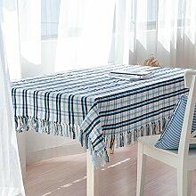 WFLJL Tischdecke aus Baumwolle im Europäischen