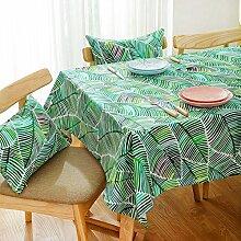 WFLJL Tischdecke aus Baumwolle im Europäischen Stil Dekoration Küche Couchtisch Esstisch Abdeckung Tuch 140 * 180cm