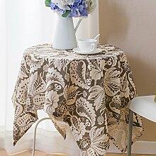 WFLJL Tischdecke aus Baumwolle im Europäischen Stil Dekoration Küche Couchtisch Esstisch Abdeckung Tuch 90 * 90cm