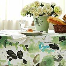 WFLJL Tischdecke aus Baumwolle im Europäischen Stil Dekoration Küche Couchtisch Esstisch Abdeckung Tuch 130 * 180cm
