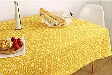 WFLJL tischdecke Bettwäsche Couchtisch Restaurant ein Wohnzimmer ein Zimmer in einem Studentenwohnheim Rechteck Gelb 110 * 160cm