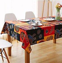 WFLJL Tischdecke Esstisch American Style Ländliche Folk-Custom Wohnzimmer Bettwäsche Rechteck Couchtisch Maya 110*170cm