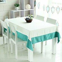 WFLJL Tischdecke Landhausstil Esstisch Farbe