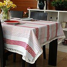 WFLJL Tischdecke Zimmer im europäischen Stil Dekoration Baumwolle Esstisch Couchtisch Restaurant Living table Cover 140 * 200 cm