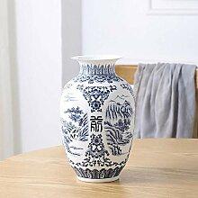 WFM Keramikvase Landschaft Dumb blau und weiß