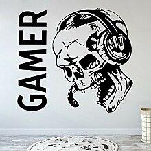 Wfnbzd Sugar Skull Spiel Wandtattoo Controller