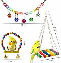 WFZ17 7 Stücke Haustier Vogel Papagei Glocke