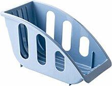 wfz17Card Slot Schüssel Storage Rack Korb Küche Spüle Schrank Regal, Polypropylen, blau, Einheitsgröße
