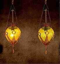 WGE Glaslampe Kristall Kleine Kronleuchter Bar
