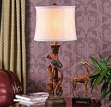 WGE Pastorale Kreative Persönlichkeit Schlafzimmer Nachttischlampe American Dekoration Retro Europäischen Stil Tischlampe Wohnzimmer