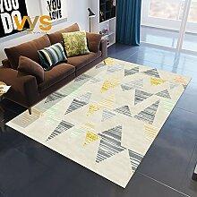 Wgh55555 Wohnzimmer Teppich nordischen Modernen Minimalistischen Sofa Couchtisch Amerikanische Geometrie Maschine Nachttisch Schlafzimmer (Farbe : 5, Größe : 120×160cm)