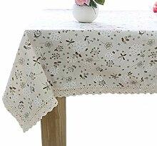 Wghz Tischdecke rechteckig - Baumwolle Leinen