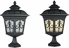 WGJ Europäischen Stil im freien Posten Lampen/Lampe/eingemauert Gartentor wasserdichte Rasen/Landschaft Gartenleuchte , small