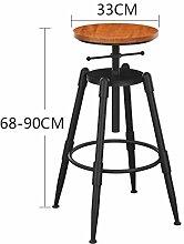 WGL Retro Eisen Massivholz Bar Stuhl, Haushalt Bar