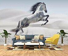 Wgop 3D-Tapete mit Pferdemotiv, für Wohnzimmer,