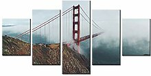 WGWNYN 5 Stück HD-Druck Golden Gate Bridge