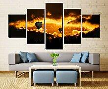 WGWNYN 5 Stück HD-Druck Golden Sunset