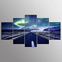 WGWNYN 5 Stück HD-Druck Malerei Autobahn
