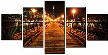 WGWNYN 5 Stück HD-Druck Malerei Neonlichter