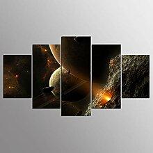 WGWNYN 5 Stück HD-Druck Malerei Schöne Planeten