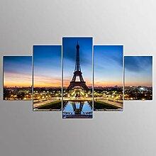 WGWNYN 5 Stück HD-Druck Malerei Schönes Gebäude