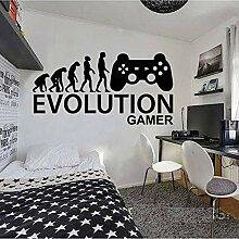 WGWNYN Gamer Ps4 Aufkleber Kinderzimmer Evolution