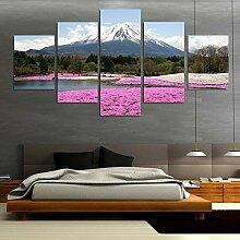 WGWNYN Leinwand HD-Druck 5 Stück Japans Mount