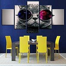 WGWNYN Wandkunst HD-Drucke Bild 5 Stück Schöne