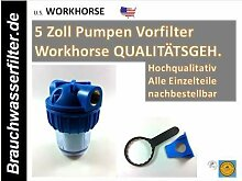 WH Gehäuse 5 Zoll LEERGEHÄUSE FILTERANLAGE Pumpenvorfilter Filteranlage Wasserfilter Filter Osmose Osmoseanlage Umkehrosmose