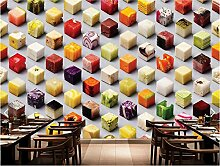 WH-PORP 3D Food Creative Food Large Mural tapete