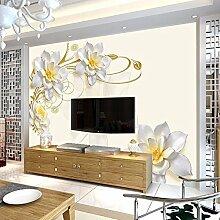 Wh-Porp 3D Große Blume Magnolia Wandbilder 3D