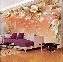 Wh-Porp Fototapete, 3D Tapete, Blume, modern,