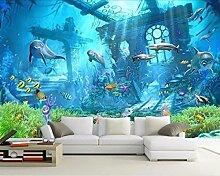 WH-PORP Home Decor tapete Mural Underwater World