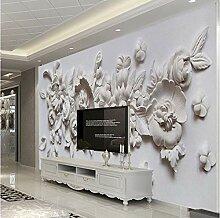 Wh-Porp Tapete Europäischer Stil 3D Relief