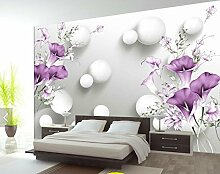 WH-PORP tapete For Walls 3D Hand Painted Purple