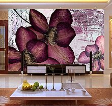 WH-PORP Wholesale Purple Flower 3D Wall Mural