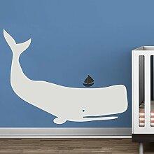 "Whale Wand Aufkleber Vinyl Kinderzimmer Aufkleber Baby Zoo Wal Decor Ocean Kinder Wand Aufkleber jungen Kinderzimmer Wand Dekoration, Vinyl, D, 36""""hx47""""w"