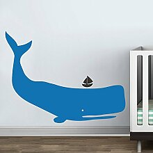 "Whale Wand Aufkleber Vinyl Kinderzimmer Aufkleber Baby Zoo Wal Decor Ocean Kinder Wand Aufkleber jungen Kinderzimmer Wand Dekoration, Vinyl, C, 36""""hx47""""w"