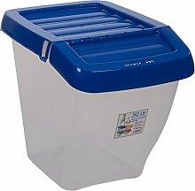 Wham 12571 Recyclingbox 50 Liter Stapelbar Clear/Blau Mülleimer Abfalleimer