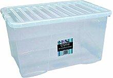 Wham 14025 Aufbewahrungsbox + Deckel 60L CLEAR
