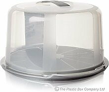 Wham Design Tortenhaube, Kunststoff, klar/Alum, 40