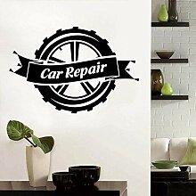 Wheeler Reparatur Wandkunst Aufkleber für Garage